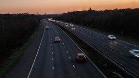 Blurred cars on motorway Royalty Free Stock Photography