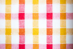 Blurred checkered fabric background. Blurred colorful checkered fabric background texture 2 Royalty Free Stock Photos