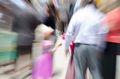 Blurred child in a crowd Royalty Free Stock Photo