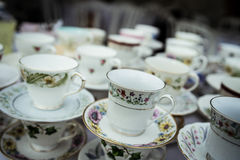 Blurred china cups royalty free stock image