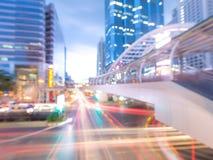Blurred Chong Nonsi skywalk at bangkok skytrain Stock Image