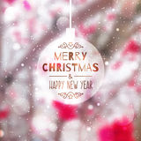 Blurred christmas background Stock Image