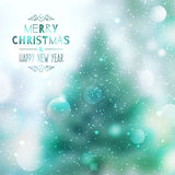 Blurred christmas background Stock Photography