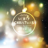Blurred christmas background Stock Photo