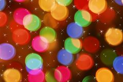 Blurred christmas light Stock Photo