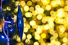Blurred of christmas light Stock Photography