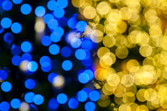 Blurred of christmas light Stock Photos
