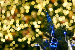 Blurred of christmas light Royalty Free Stock Image