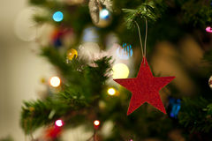 Blurred of christmas light Stock Images