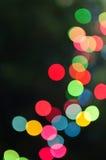 Blurred Christmas lights Stock Photography