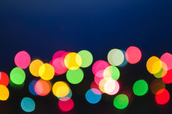 Blurred Christmas lights Stock Image