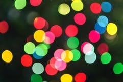 Blurred Christmas lights Stock Image