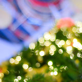 Blurred Christmas lights. Abstract Blurred Christmas lights background royalty free stock photos