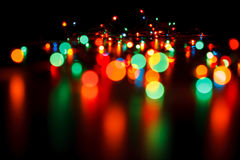 Blurred christmas lights Royalty Free Stock Images