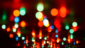 Blurred christmas lights Stock Images