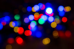 Blurred christmas lights abstract background Stock Photography