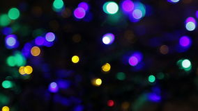 Blurred christmas lights abstract background stock video footage