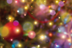 Blurred christmas lights background Royalty Free Stock Images