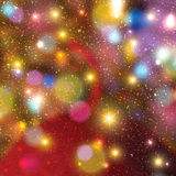 Blurred christmas lights background Royalty Free Stock Photo