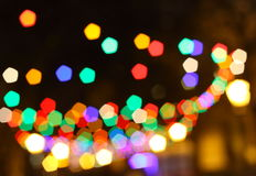 Blurred christmas lights background. Christmas Background. Holiday glowing Abstract Defocused Background With Blinking lights. Blurred Bokeh Stock Image
