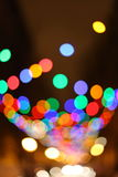 Blurred christmas lights background Stock Photos