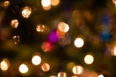 Blurred Christmas lights Stock Photo