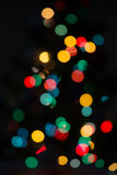 Blurred Christmas lights Royalty Free Stock Image