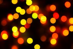 Blurred Christmas ligths background. In abstraction royalty free stock images