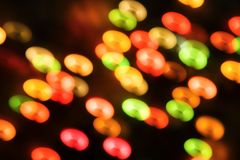 Blurred Christmas ligths background Royalty Free Stock Photo