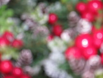 Blurred Christmas ornaments. Abstract background of blurry christmas ornaments Royalty Free Stock Photos