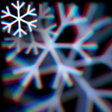 Blurred christmas snowflake sign with aberrations Royalty Free Stock Images