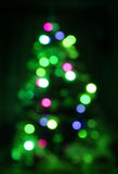 Blurred Christmas tree Stock Images