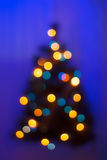 Blurred christmas tree Royalty Free Stock Photography