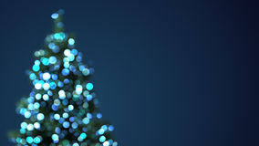 Blurred christmas tree blue lights. Abstract festive background Royalty Free Illustration
