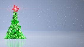 Blurred christmas tree bokeh lights background Royalty Free Stock Photography