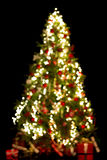 Blurred christmas tree Stock Image