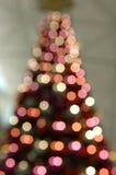 Blurred Christmas tree lights Stock Photos