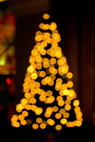 Blurred Christmas tree lights Royalty Free Stock Photo