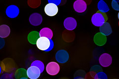 Blurred Christmas Tree Lights Royalty Free Stock Photography