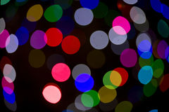 Blurred Christmas Tree Lights Stock Image