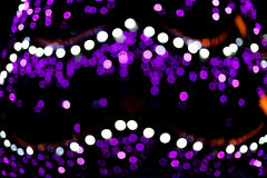 Blurred christmas tree lights. On black background Royalty Free Stock Photo