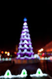 Blurred christmas tree lights Stock Photos