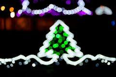 Blurred christmas tree lights Stock Photography