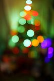 Blurred christmas tree lights  on color Royalty Free Stock Images