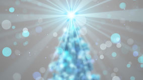 Blurred christmas tree shine Stock Photography