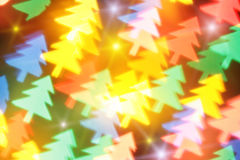 Blurred Christmas tree and stars Royalty Free Stock Image