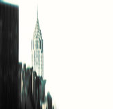 Blurred Chrysler building and Manhattan architecture Royalty Free Stock Photo