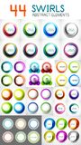 Blurred circle banners, round swirl design elements Royalty Free Stock Image