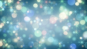 Blurred circle lights and stars abstract festive background Stock Images