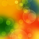 Blurred circles. Abstract color background with blurred circles - blue, orange and green Stock Photography